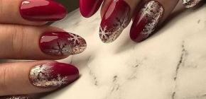 Красивый маникюр на Новый год 2020-2021: подборка идей новогоднего дизайна ногтей